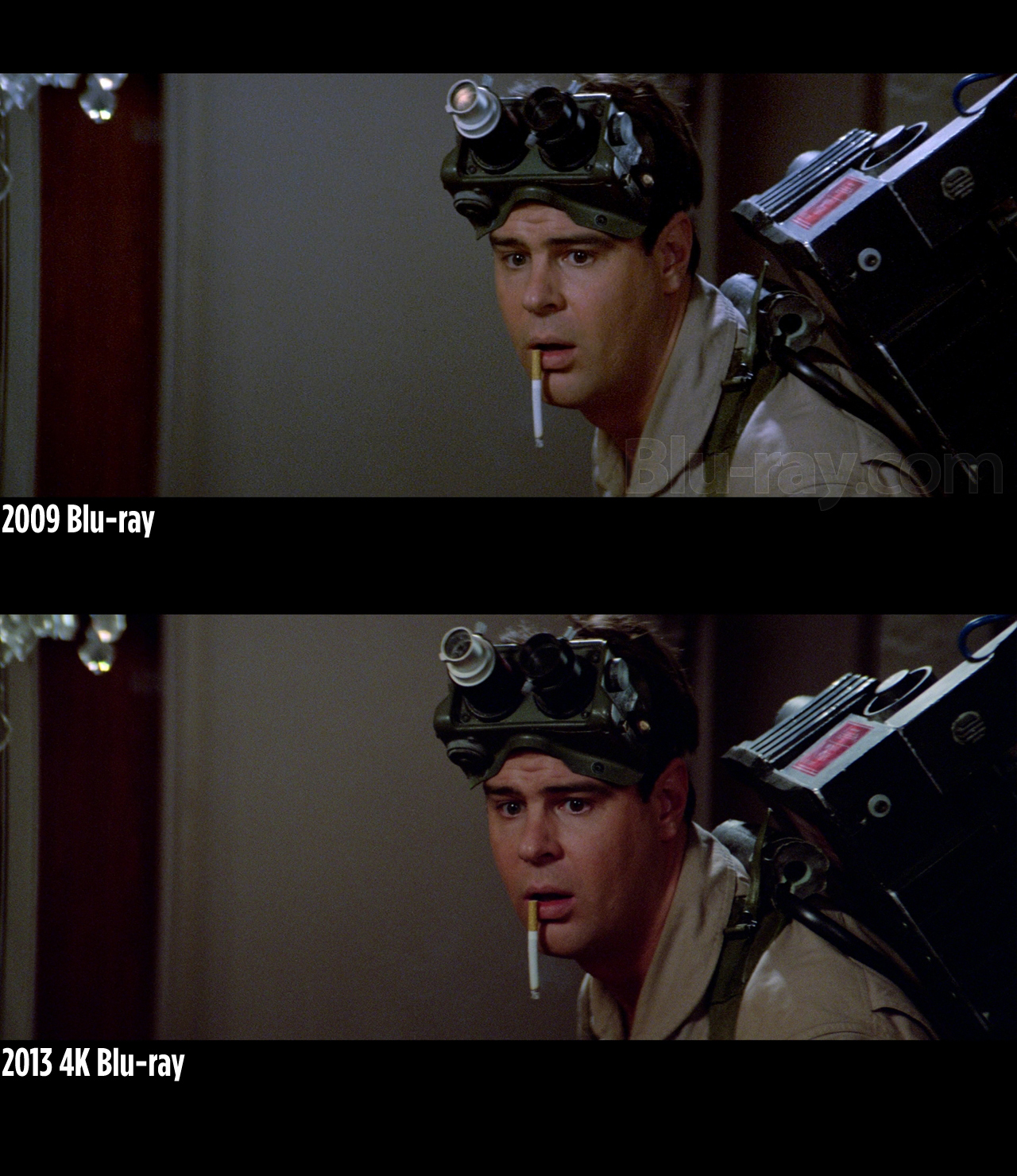 screen grabs comparison shots of ghostbusters 4k blu ray. Black Bedroom Furniture Sets. Home Design Ideas