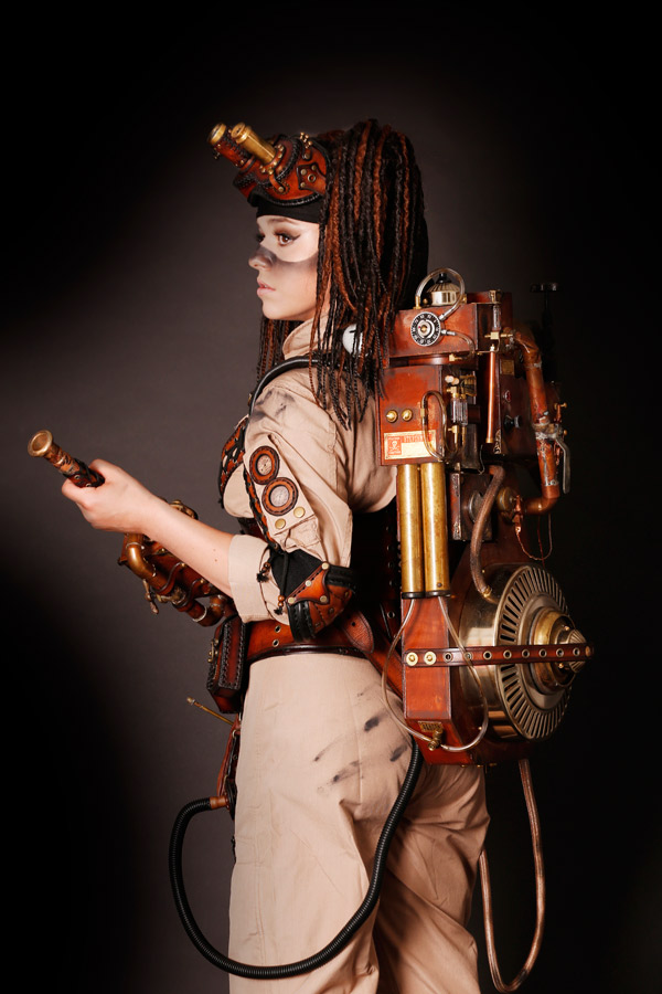 Steampunk Ghostbusters Photo Shoot Featuring Cosplayer Jessd