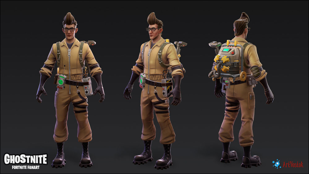 fan art fortnite and ghostbusters cross the streams in this new mashup ghostbusters news fan art fortnite and ghostbusters