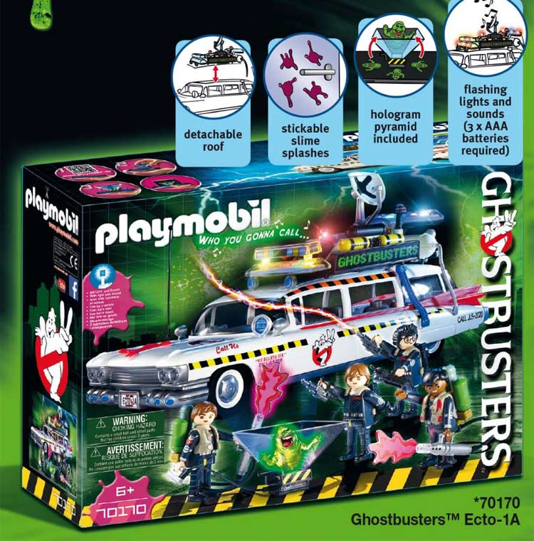 05a1716a9db5 First up we have the highly anticipated Ecto-1A! The set will include all  four main Ghostbusters